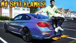 MY BMW M4 SPITS HUGE FLAMES!!! **not photoshopped** (EPIC) RKTunes F82 M4 Spitting Flames