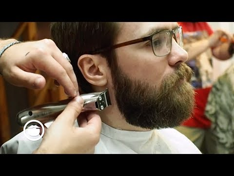 Classic Rounded Beard Trim at the Barbershop