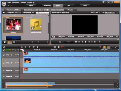 Multicam Schnitt erzeugen   synchronisieren in Avid studio und Pinnacle Studio