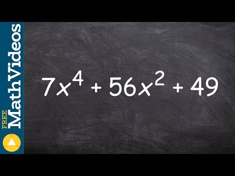 Factoring A Trinomial When It Is Raised To The Fourth Power