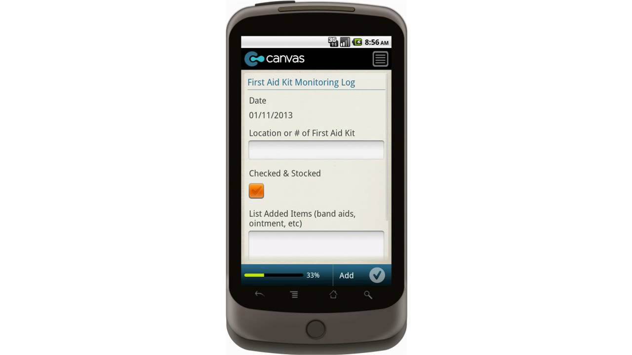 Canvas Good Agricultural Practices GAP First Aid Kit Monitoring Log Mobile  App