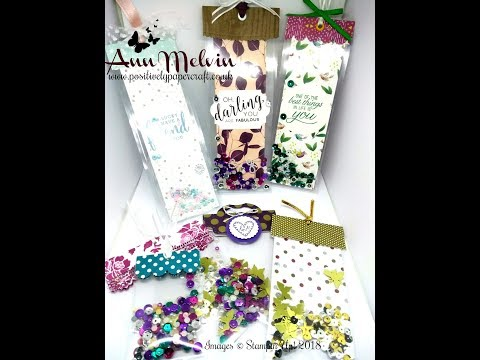 Lets Make EASY Shaker Tags & Bookmarks!