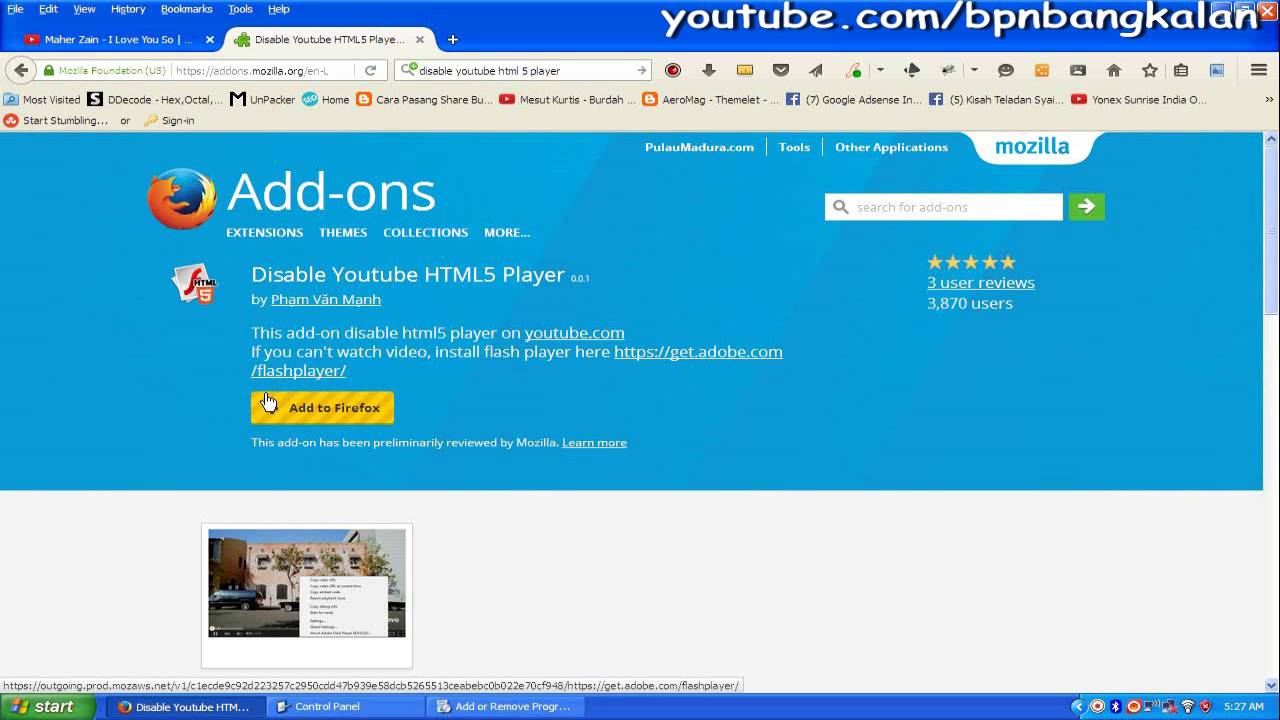 How to disable youtube html5 video player!! Tested!! ✅ youtube.