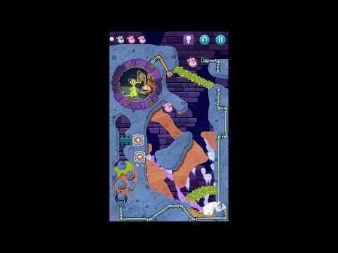 """Прохождение игры """"Крокодильчик Свомпи 2"""", уровень 38 """"Починка крыши"""", все утки и сокровища"""
