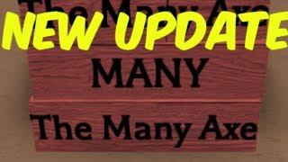 LUMBER UPDATE! NEW AXE AND RARE ITEM! Roblox Lumber Tycoon 2