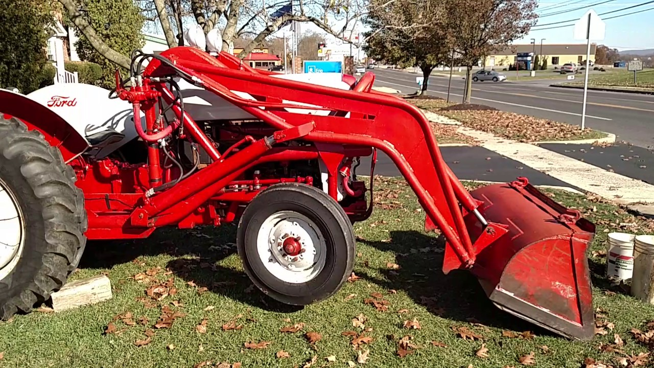 Ford 800 Tractor : Ford tractor with loader walk around for sale youtube