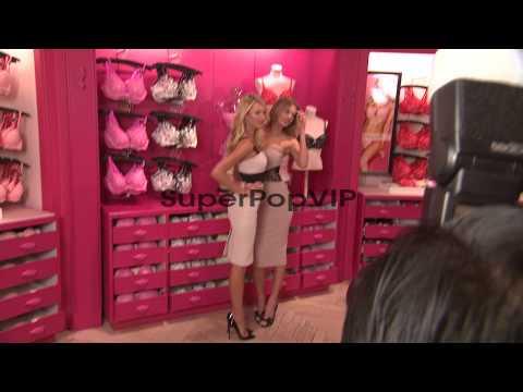 Candice Swanepoel and Bregje Heinen at Victoria's Secret ...