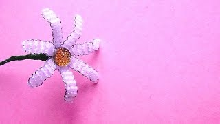 Цветы из бисера / РОМАШКА из бисера Мастер-класс / Бисероплетение