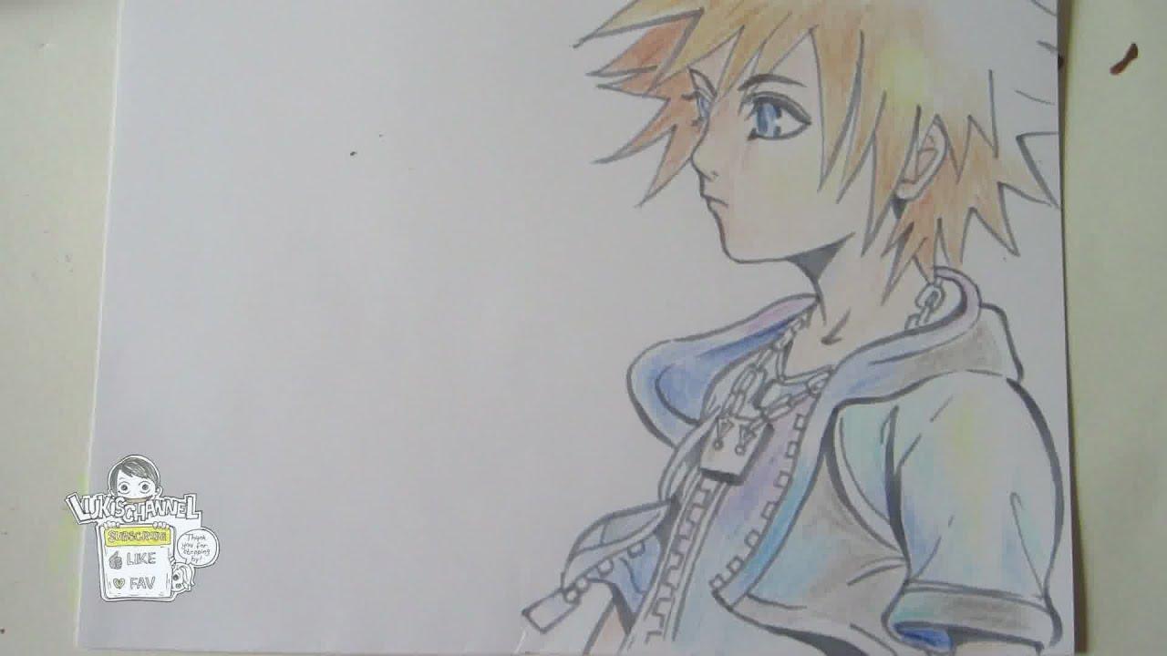 How To Draw Sora From Kingdom Hearts ソラ Youtube