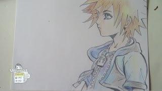 How to draw Sora from Kingdom Hearts ソラ)