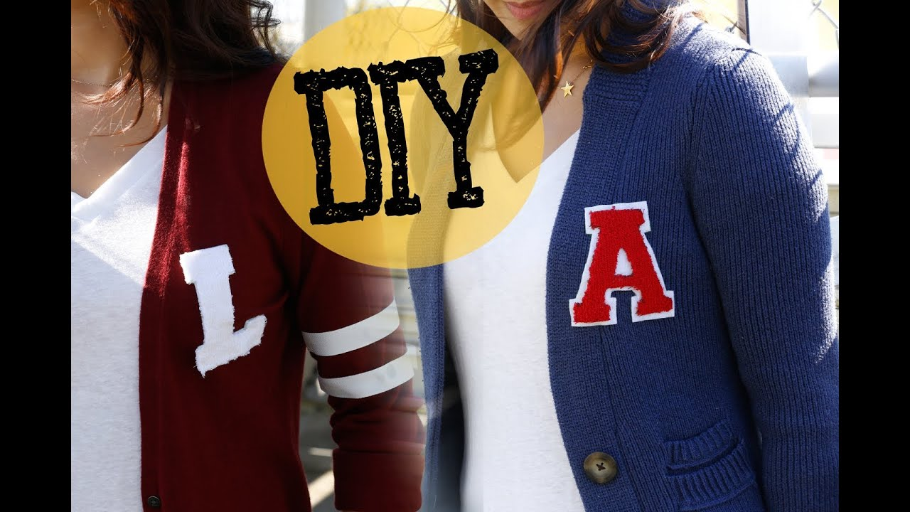 diy easy college varsity letter sweater ann le youtube
