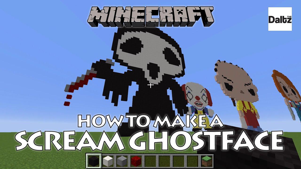 minecraft pixel art ghostface scream youtube