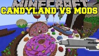 PIGZILLA MOD VS CANDYLAND - Minecraft Mods Vs Maps (Pig Meteor & Missles)