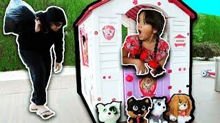 BIA LOBO CACHORRINHOS ABANDONADOS and her new toy dogs