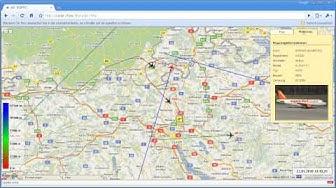 Google Maps - Air-Traffic über der Schweiz live verfolgen
