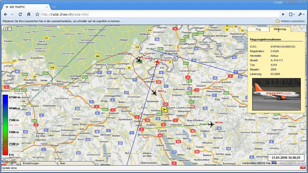 Air Traffic Map Live.Google Maps Air Traffic Uber Der Schweiz Live Verfolgen Youtube