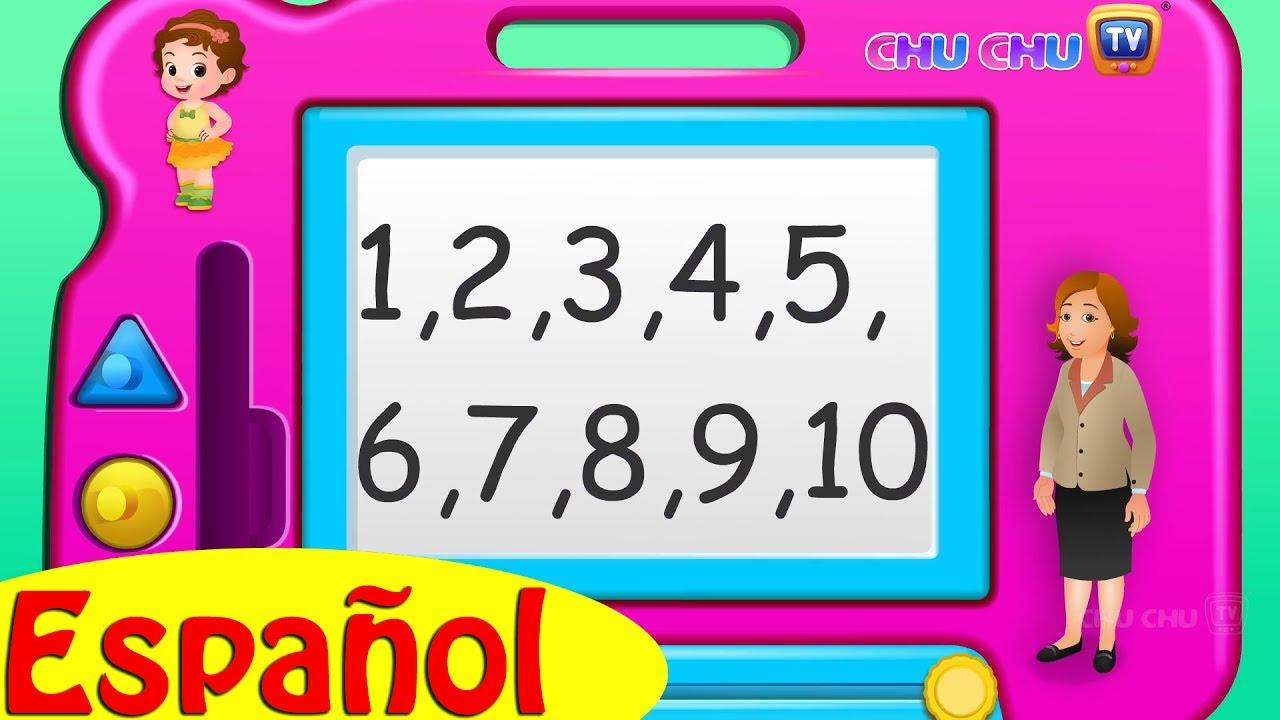 Canción De Números Learn Numbers Song Rimas De Números Para Niños Chuchu Tv Youtube