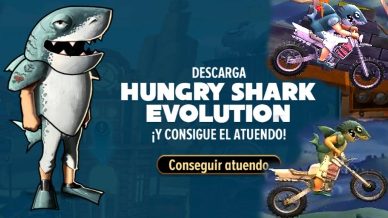 REGALAN ESTA SKIN DE TIBUÓN BLANCO DE Hungry Shark Evolution EN ESTE JUEGO DE MOTOS Trials Frontier!