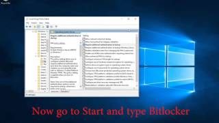 How to Encrypt Windows 10 with Bitlocker