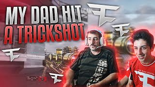 MY DAD HIT A TRICKSHOT!!