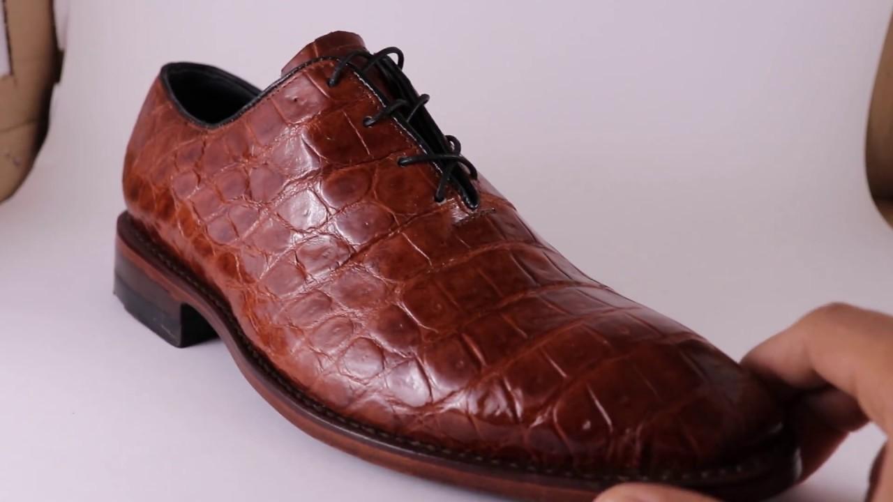 f3534c64ed9 Zapatos oxford one cut de cocodrilo piel exotica - YouTube