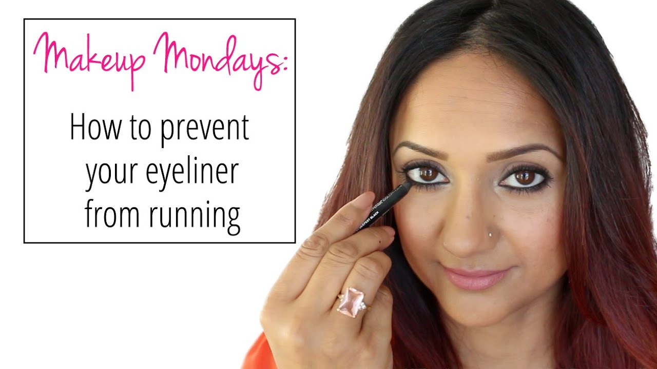 How to prevent your eyeliner from running - YouTube
