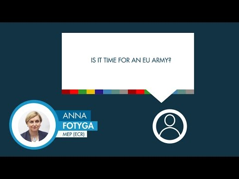 Anna Fotyga answers a question on EU security