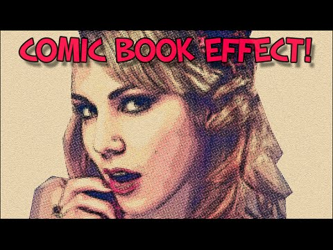 Retro Comic Book Effect Photoshop Tutorial
