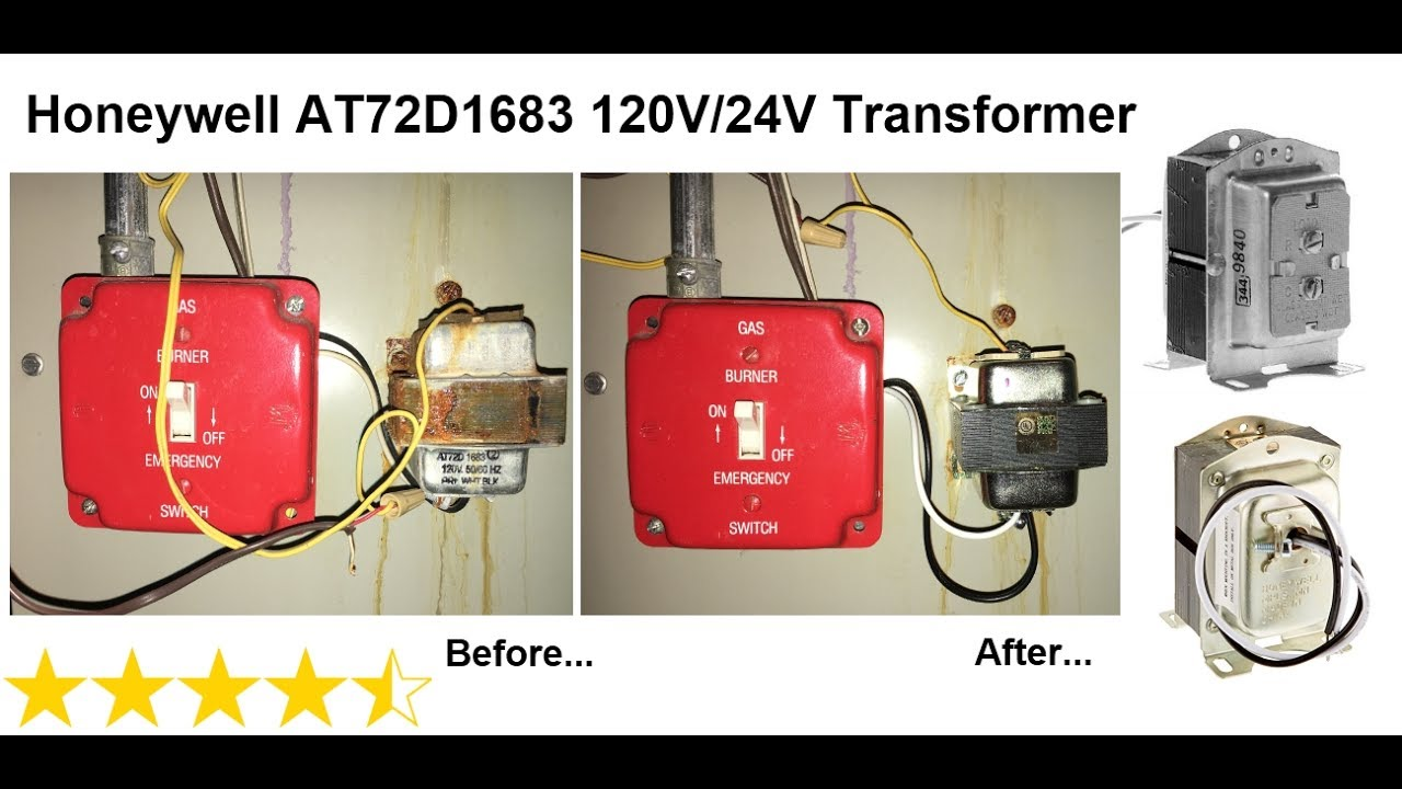 honeywell at72d1683 120v 24v transformer replacement youtube rh youtube com honeywell transformer install honeywell 1321 transformer wiring