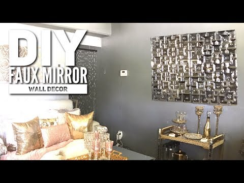 DIY| DOLLAR TREE Faux Mirror | ZGallerie Inspired| Home Decor 2017