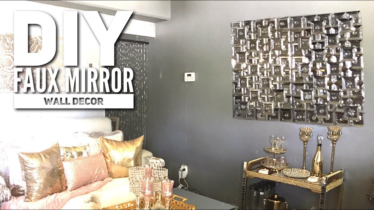 DIY| DOLLAR TREE Faux Mirror | ZGallerie Inspired| Home ...