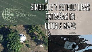 Los símbolos y estructuras más extrañas de google maps Free HD Video