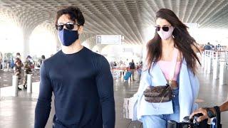 Tiger Shroff And Disha Patni Spotted At Mumbai Airport
