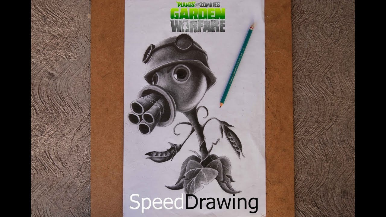 Dibujo Del Pea Shooter Lanzaguisantes De Plants Vs Zombies Garden Warfare