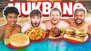 2HYPE  Hot Tub Cheesecake Factory Mukbang!