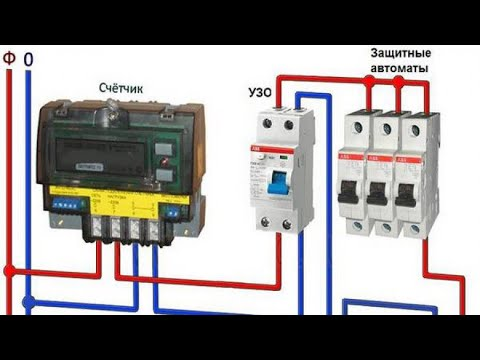 Серия 5: становка электричества БЕЗ ОПЫТА, собираю счётчик EKF однофазный, автомат legrand