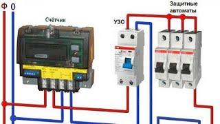 серия 5: установка электричества БЕЗ ОПЫТА, собираю счётчик EKF однофазный, автомат legrand