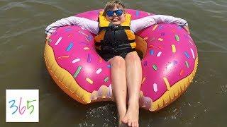 GIANT DONUT FLOAT BEACH DAY!!   KIDS LIFE 365   6.16.18