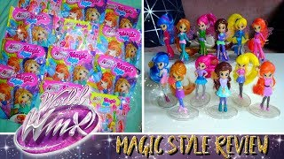 Winx Club Review - 12 Magic Style figures opening |FR|