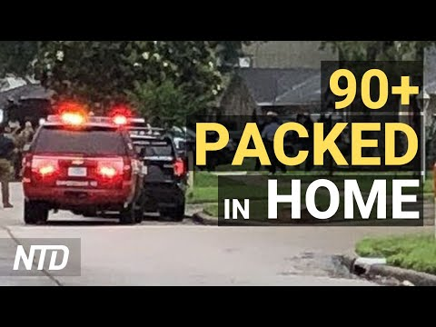 Over 90 People Found Packed in Houston Home;  Giuliani's Son Slams Feds' 'Politicized' Raid   NTD
