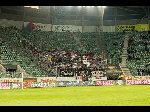 Fans: FC Basel Fans in St.Gallen - 20.09.2017
