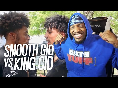 OUR FIRST MUMBLE FIGHT!| KING CID VS SMOOTH GIO! **I Pulled Up** (REACTION!!!)