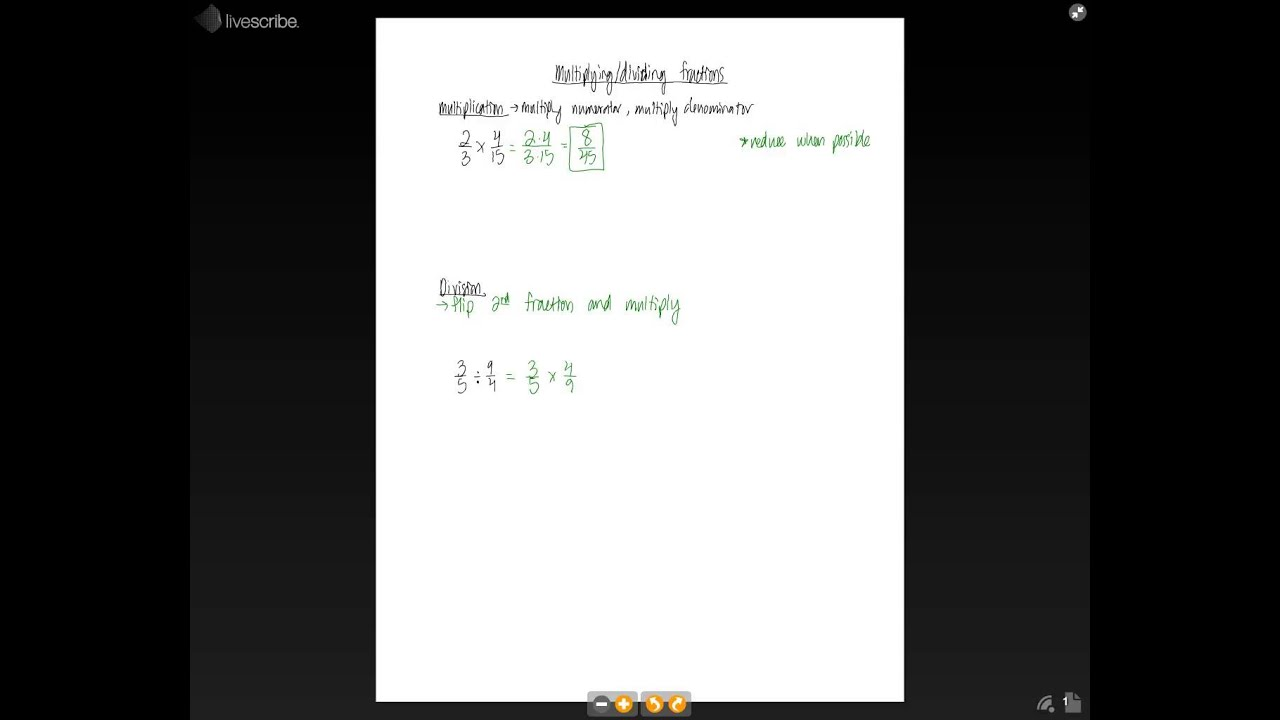 6th Grade - Multiplying and Dividing Fractions - YouTube