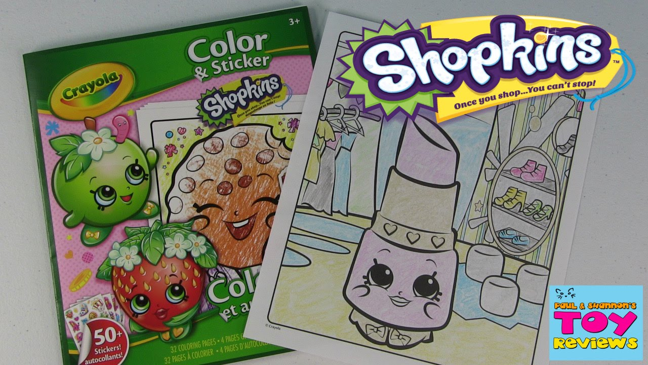 Shopkins Crayola Coloring Page Lippy Lips Diy Color With Paul Pstoyreviews