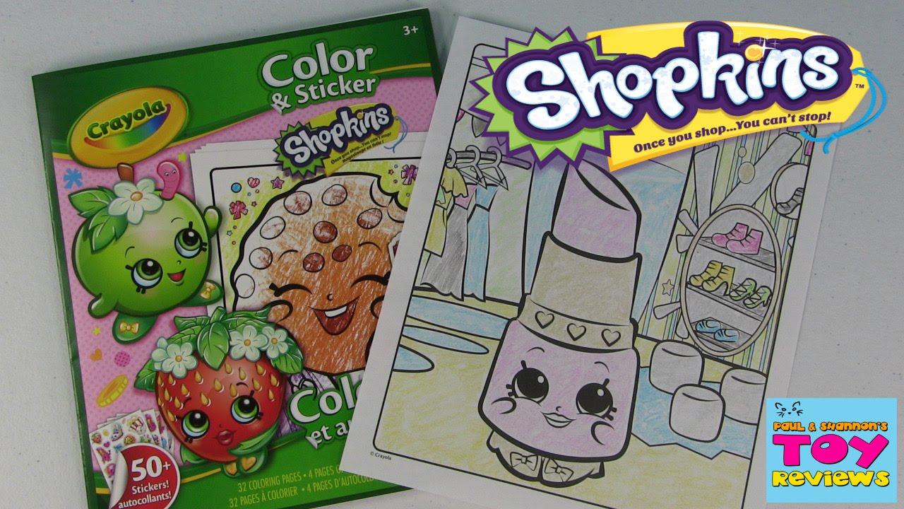 Shopkins Crayola Coloring Page Lippy Lips Diy Color With Paul
