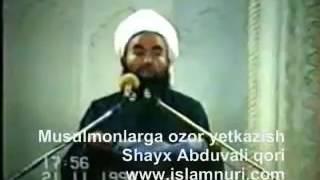 musulmonlarga ozor yetkazish shayx abduvali qori uzbek islom2