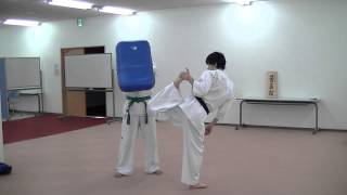 勇真館 Japan karateroad yushinkan yuusuke shimoyoshi Brazilian kick...