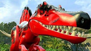 CRIANDO UM NOVO MEGA HÍBRIDO: RED SPINDOMINUS REX! DINOSSAUROS LEGO JURASSIC WORLD