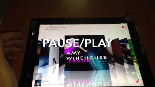 TunesFlow Music Player on iPad 3rd Generation and iOS 7