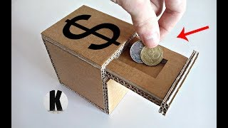 как сделать копилку из картона? / How to make a piggy bank from a cardboard?
